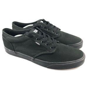 Men's Vans Classic Triple Black Skate Shoes Sz 13